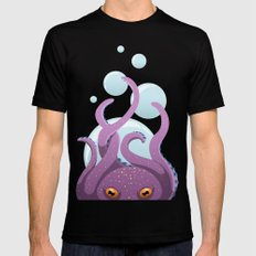 Octopus Mens Fitted Tee Black MEDIUM