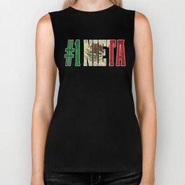 Nieta Gift Mexican Design For Mexican Flag Design for Mexican Pride Vintage Outline Biker Tank