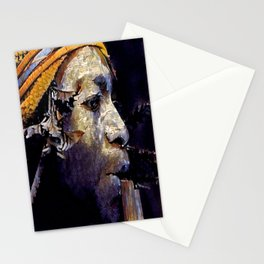 Papua Flute Player II Stationery Cards