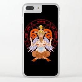 Body-positive Baphomet Clear iPhone Case