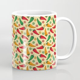 Hot Peppers Doodle Pattern - Taco Series Coffee Mug