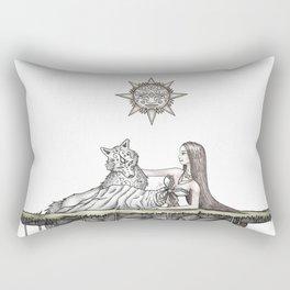 Princess Luna & The Royal Wolf Rectangular Pillow
