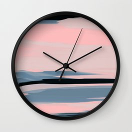 Soft Determination Peach Wall Clock