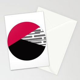 Patchwork , circle Stationery Cards