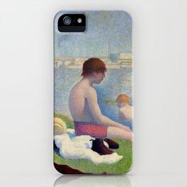 """Georges Seurat """"Bathers at Asnières"""" iPhone Case"""