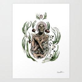 Onion mummy Art Print