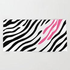 Zebra print. Pink Beach Towel