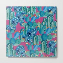 Cactus in pink Metal Print