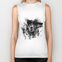bleach Biker Tanks featuring Bleach BW 3 by Bradley Bailey