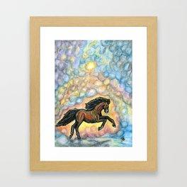 Comet Horse Framed Art Print