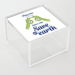 Simon says... Save the earth Acrylic Box