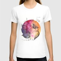 flora T-shirts featuring Flora by Christine Lindstrom