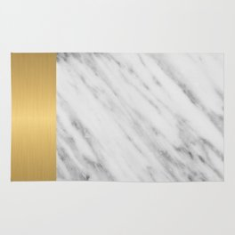 Carrara Italian Marble Holiday Gold Edition Rug