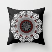 nirvana Throw Pillows featuring Nirvana by Mr. Pattern Man