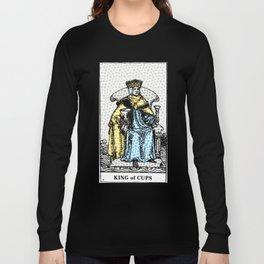 Modern Tarot Print - King Of Cups Long Sleeve T-shirt