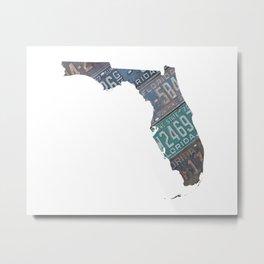 Vintage Florida Metal Print