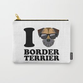 I Love Border Terrier modern v1 Carry-All Pouch