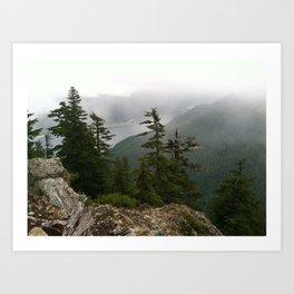 Foggu Mountain Air II Art Print