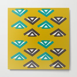 Abstract tribal shapes Metal Print