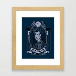 Something Blue Framed Art Print