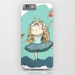 Romy - Curly hair princess iPhone Case
