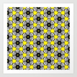 Yellow and Black Flowers Art Print