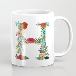 Monogram Letter H Coffee Mug