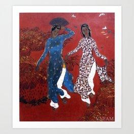 Two women (Nguyễn Tiến Chung, Hoàng Tích Chù) Art Print