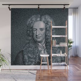 Gravity / Vintage portrait of Sir Isaac Newton Wall Mural