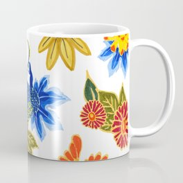 Peacock Floral Coffee Mug