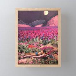 Purple moon bather Framed Mini Art Print