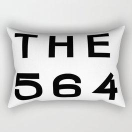 564 Washington Area Code Typography Rectangular Pillow