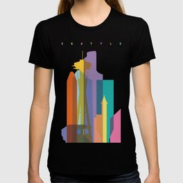 Shapes of Seattle accurate to scale T-shirt