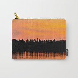 Orange Sunset With Forest Reflection On Lake Carry-All Pouch