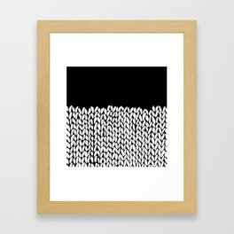 Half Knit  Black Framed Art Print