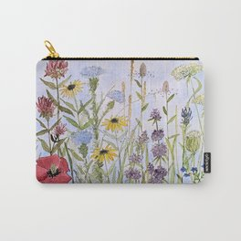 Wildflower Garden Watercolor Flower Illustration Carry-All Pouch