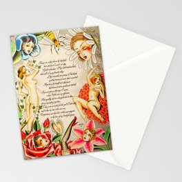 Girls of the Garden Stationery Cards
