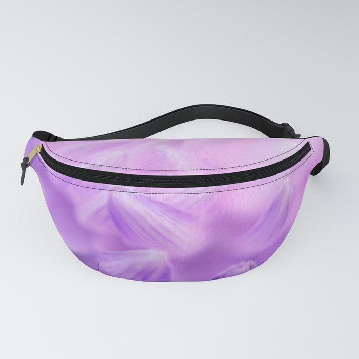 Pearl Petal Kiss | pink flower, pastel flowers, purple floral pattern, cute dahlia petals, macro Fanny Pack