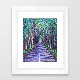Kauai Tree Tunnel Framed Art Print