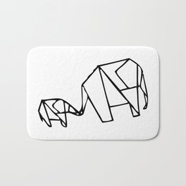 Origami Elephants (mom and baby) Bath Mat