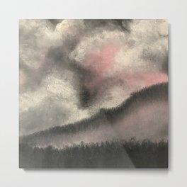 Monochromatic Winter Sky Metal Print