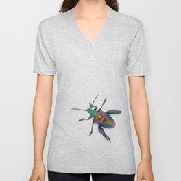 Frog-legged Beetle... Oh-so-shiny! Unisex V-Neck