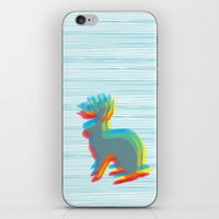 jackalope iPhone & iPod Skins featuring Jackalope by Glassy