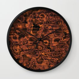 Knotted Wood Wall Clock