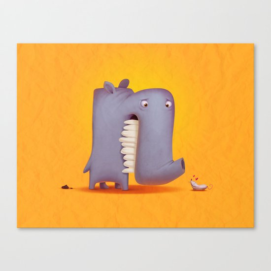 Little lover Canvas Print