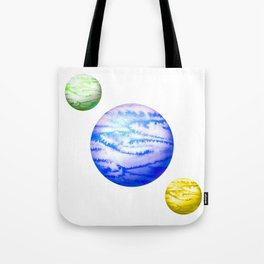 Illustration of watercolor round planet Tote Bag