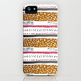 Make do and Mend pattern iPhone Case