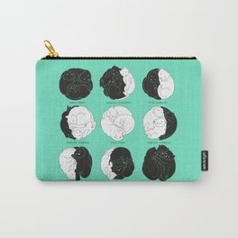 Kitty Lunar Cycle_Minty Carry-All Pouch