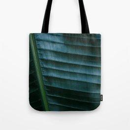Botanical photography print   Dark green tropical leaf of a palm   Jungle Wanderlust art Tote Bag