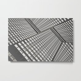 Sky scrapers blocking out the sky Metal Print